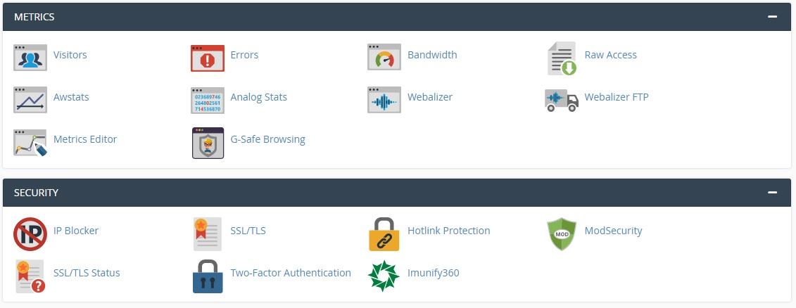 Метрики и инструменти за сигурност в cPanel