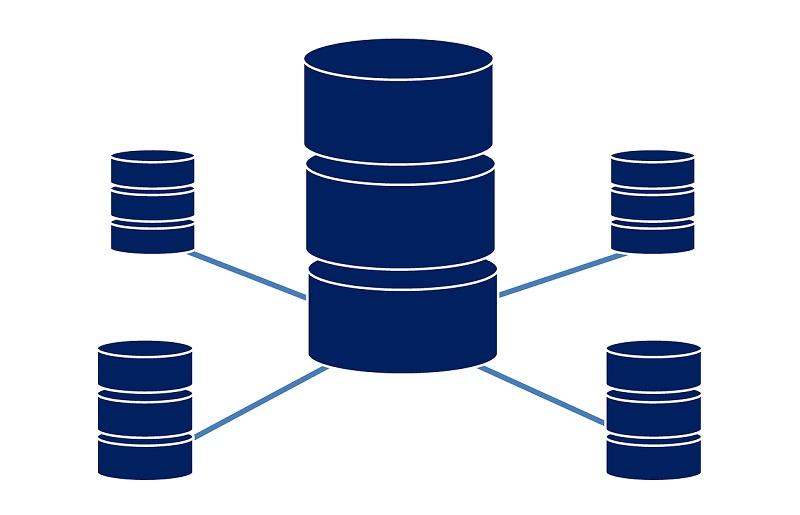 Изображение на кръгли обект показват схема на споделен хостинг