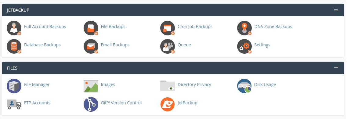 Backup и файлове в cPanel