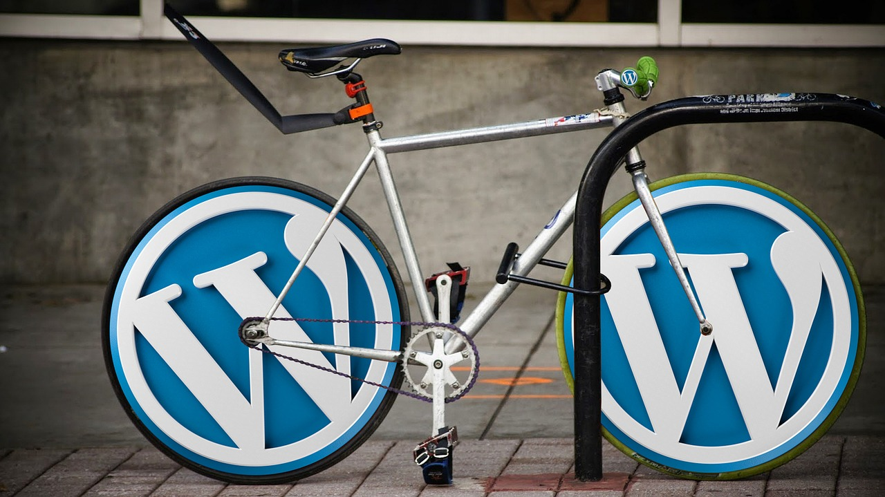 Велосипед с лога на WordPress хостинг